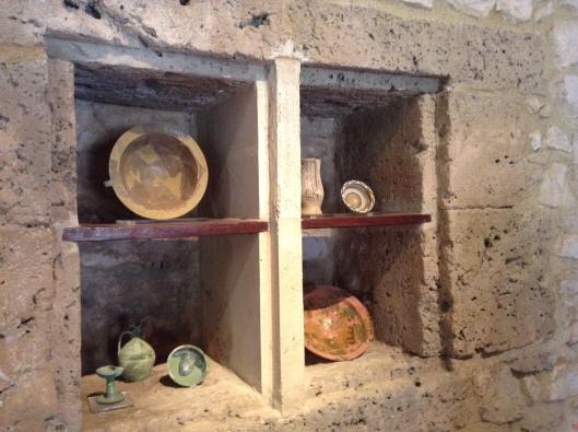 Built-in cupboard at Chlemoutsi Castle